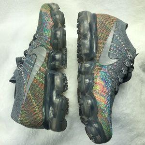 Rare Nike Women's Air VaporMax Flyknit Dark Grey 7